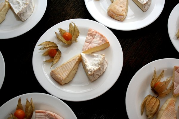 cheese: An arrangement of different types of cheese