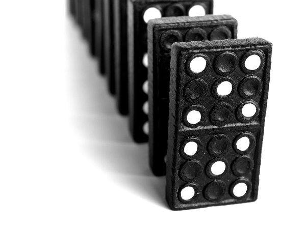 Domino: Domino blocks waiting to play