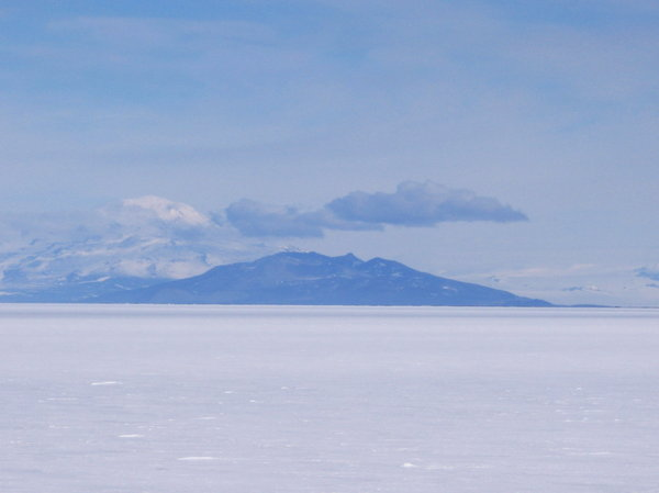 Black and White: In Antarctica, there are some variations of color, mostly blue, black, white