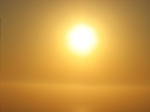 "Golden: A capture of ""gold"" sun on the Gulf of Mexico"