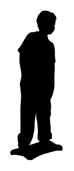 A child on balance board: A silhouette. Please let me know if you decide to use it!