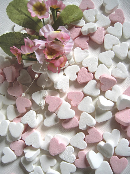 Pink candy hearts: pink candy hearts
