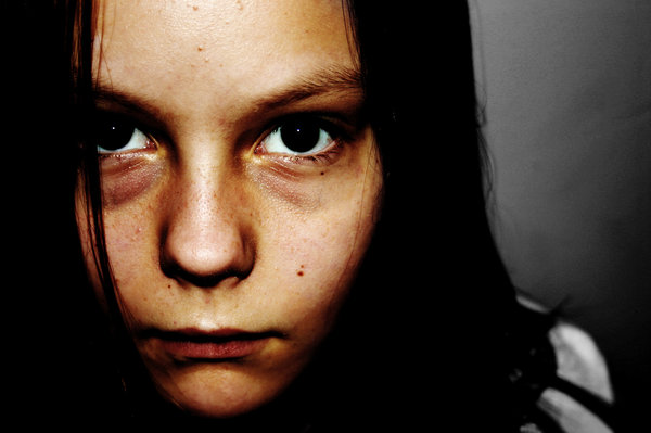 The Stare: This is a pic of my lil sis; just check out those evil eyes ;)