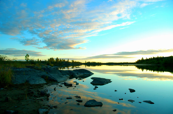 Yellowknife Reflections 4: Here are some morning 6am morning shots in August
