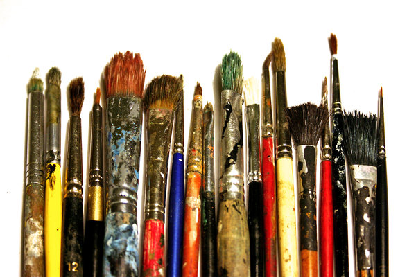 my old brushes: ...