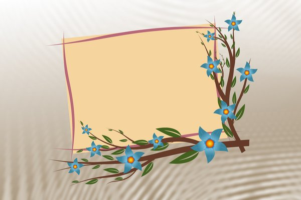 Floral Photo Frame: No description