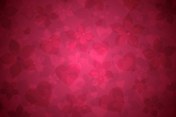 Delicate Floral Background 2: Delicate floral background with additional elements such as hearts, stars, leaves, dots