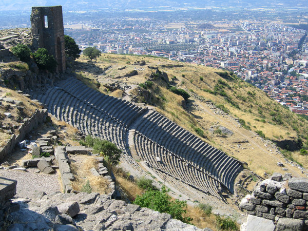 Pergamom Theatre: Theatre of Pergamom with it's steep seating in Turkey