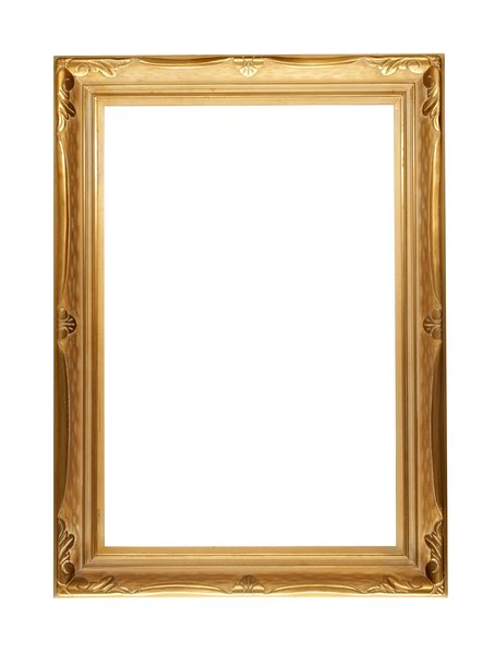 elegant gold frame a large frame that has been in storage for years