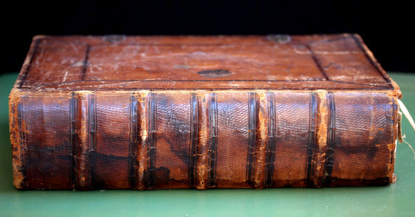 old Dutch Bible 1: large antique leather bound Bible