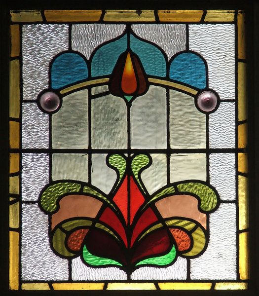 door glass 2: stained glass windows in door