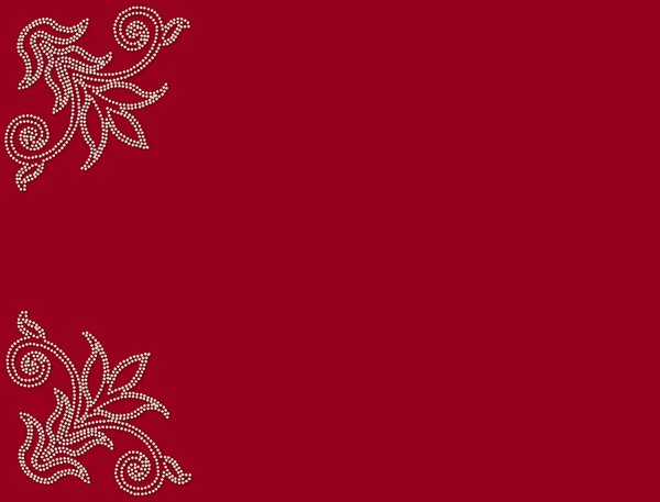 Elegant Pearl Corners: An ornate pearl shape in the corners of a red background. Great frame or border.