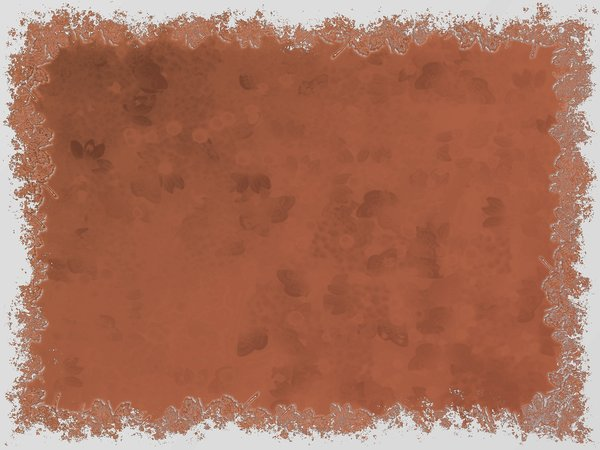 Grungy Leaf Border 4: Grunge background framed with leafy edges.