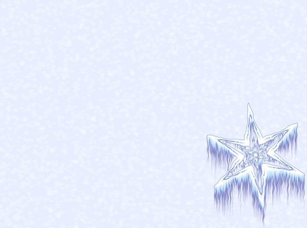 Winter Wallpaper Border Icy Snowflake Winter snowflake or star against a plain or snowy