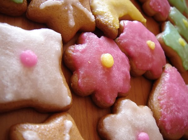 Ginger cookies: Christmas cookies.