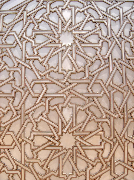 Arabic Ironworks 1: Ironworks detail in the Great Hassan II Mosque, Casablanca Morocco.