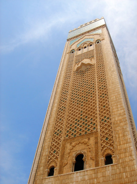 Great Mosque: Impressive Hassan II Great Mosque in Casablanca, Morocco. This is the 2nd largest Mosque in the world after Mecca.