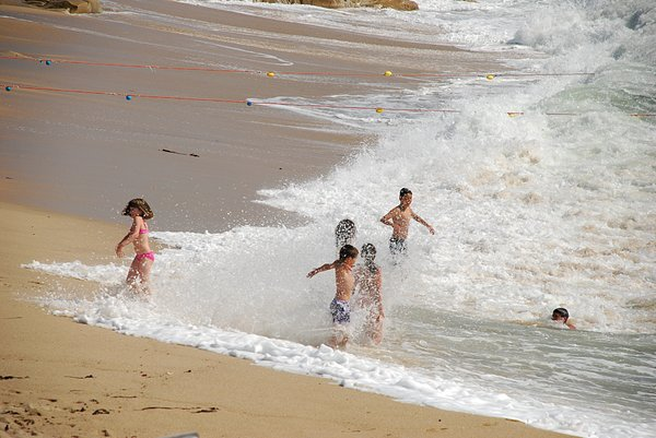 Children & tidal power: Children & tidal power in Vila do Conde (Portugal)