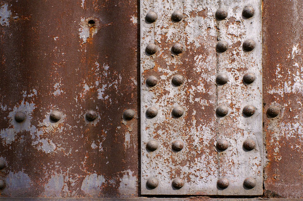 Rivets: Rivets on a bridge in Cleveland, Ohio.