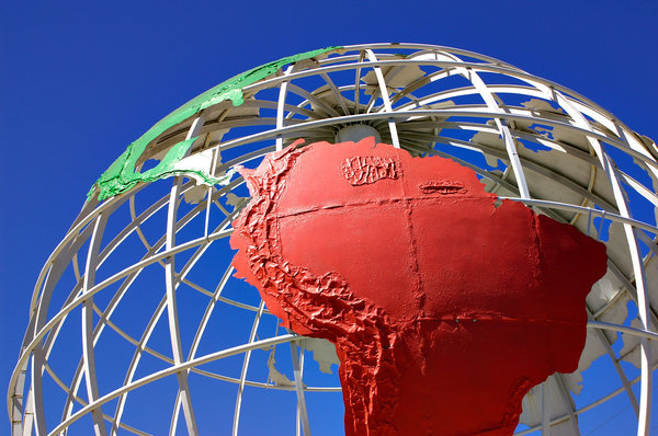 Globe - South America: Globe near Seal Beach, California.