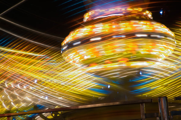 At the Fair... 7: Various Ferris wheels and other rides at the 2006 Arizona State Fair.
