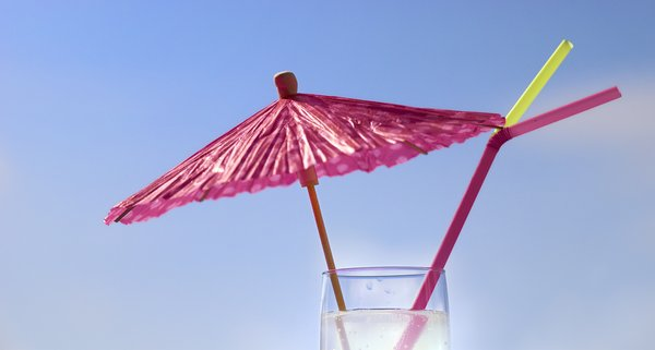 Party drink: Festive party drink with umbrella