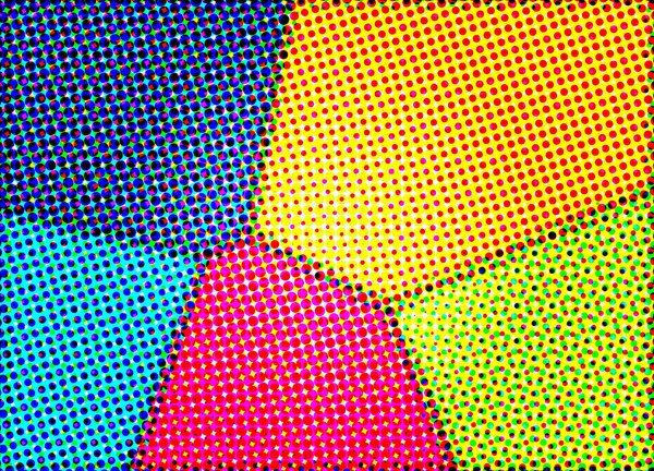 Color Halftone B: Computer Generated Abstract Color Halftone. Visit me at Dreamstime: 