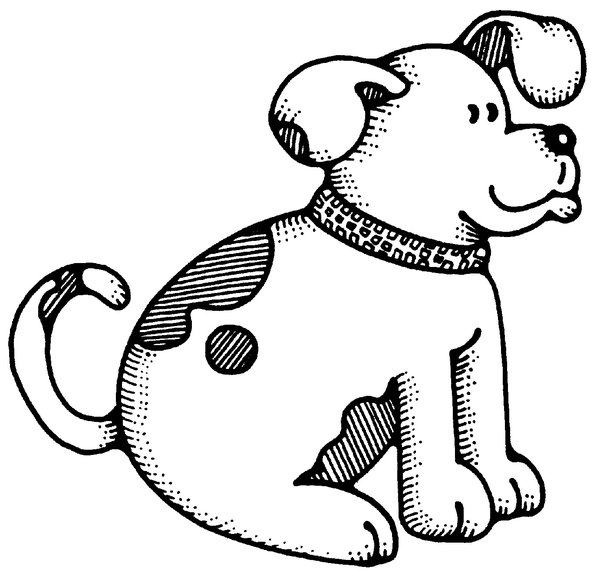 Dog: Hand Drawn Cartoon Dog.Please visit my gallery at:http://www.stockxpert.com ..