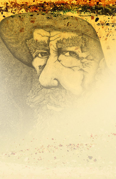 Old Man Fade: Faded Illustration on Grunge Paper.Please visit my stockxpert gallery:http://www.stockxpert.com ..