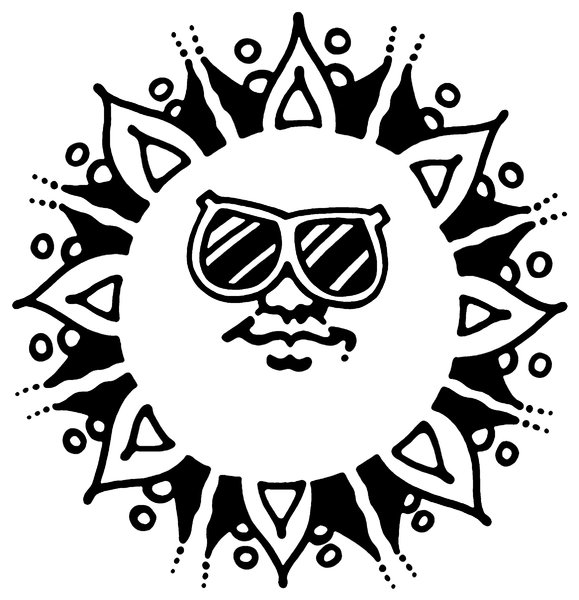 Fun in the Sun: Simple cartoon sun, Have FUN!Please visit my stockxpert gallery:http://www.stockxpert.com ..