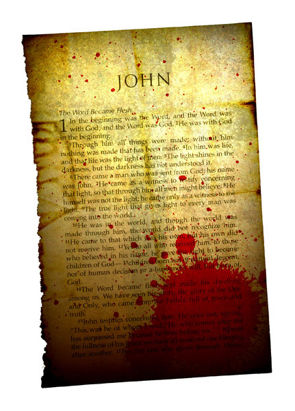 Gospel 3: Vintage torn page from the Bible.Please visit my stockxpert gallery:http://www.stockxpert.com ..
