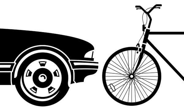 Car and Bike: Graphic illustration of a car and a bike.Please visit my stockxpert gallery:http://www.stockxpert.com ..