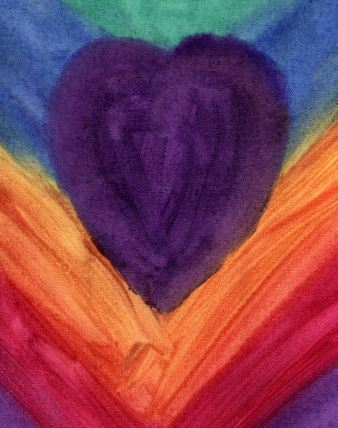 Heart: Purple Heart on Canvas.Please visit my stockxpert gallery:http://www.stockxpert.com ..