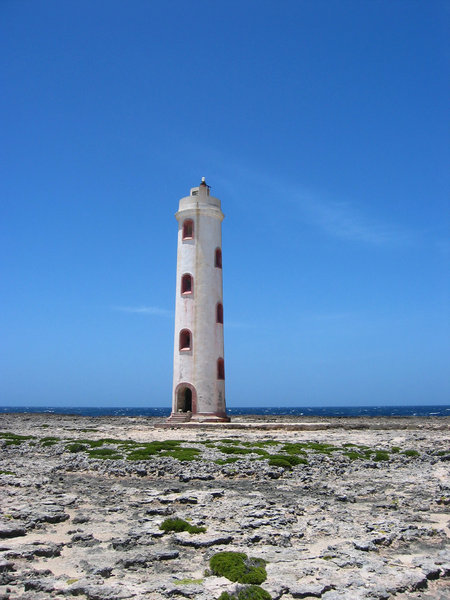 Deserted lighthouse: Old lighthouse at Bonaire South-America