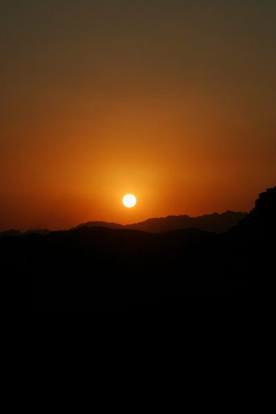 sunset in the desert 1: sunset in the jordan's desert