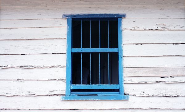 Window: Wind on shed in Cuba