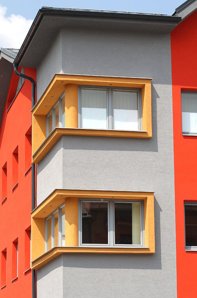 yellow window 2: modern building