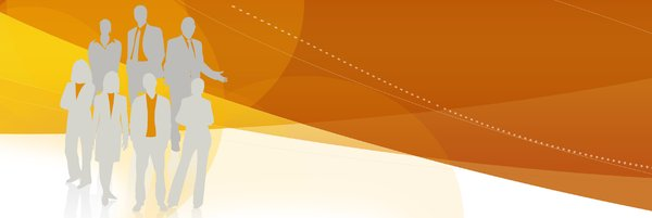 web banner 2: orange web banner with silhouette