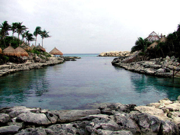 xcaret: A peaceful lagoon at Xcaret, Quintana Roo, Mexico.