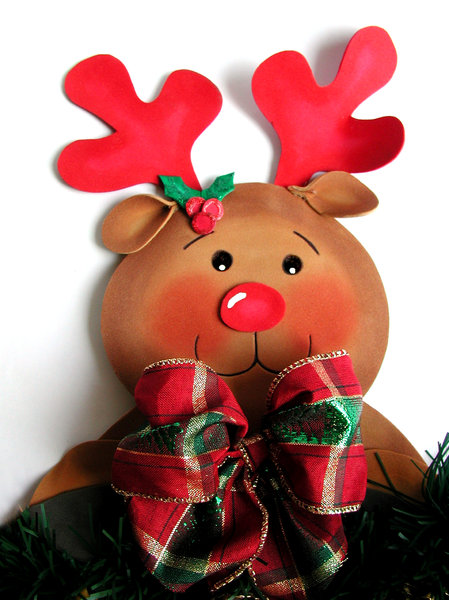Rudolph: A close up of Rudolph after 11 months of holidays...