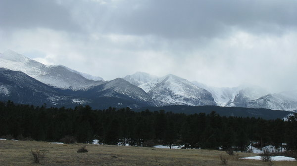 Rocky Mountain National Park 3: Some shots along the outskirts of the town of Estes Park and into Rocky Mountain National Park. March 9, 2008This one I shot from inside the moving car  because my dad didn't like stopping in the middle of the road too much.