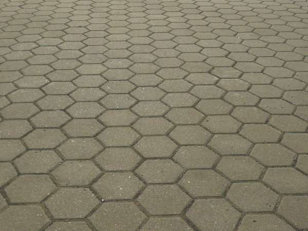 Pavement: Hexagonal pavement