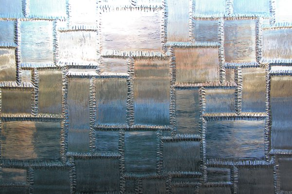 Pattern in glass 3: Part of my back door.