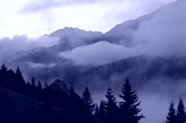 Misty mountain valley 2: Austria.
