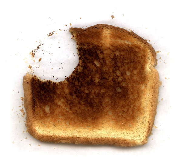 Toast 2: Variations on a piece of toast. Visit me at Dreamstime: 