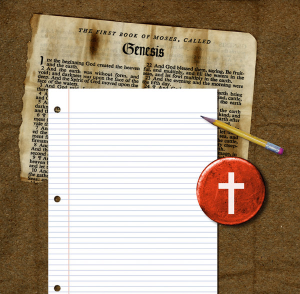 Bible Notes: A collage of  Bible stuff.For a HI RES image, please visit:http://www.stockxpert.com ..