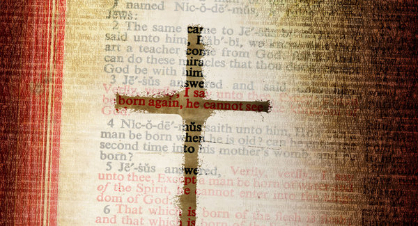Born Again: A vintage Bible with a rustic cross.Please vist my stockxpert gallery for a larger image:http://www.stockxpert.com ..