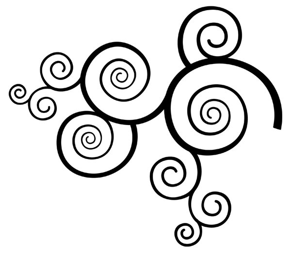 Swirls: Black and White Twirl Graphic.Please visit my stockxpert gallery:http://www.stockxpert.com ..