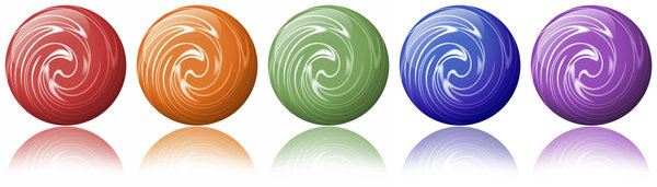 Color Balls: Five colorful balls with swirls.Please visit my stockxpert gallery:http://www.stockxpert.com ..