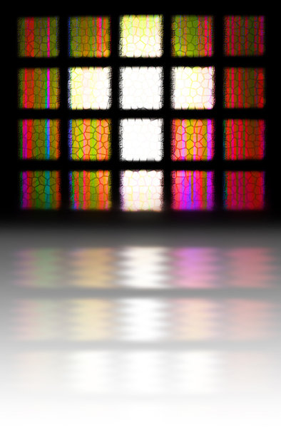 Cross Light: A stained glass window with a reflection. Please visit my stockxpert gallery:http://www.stockxpert.com ..